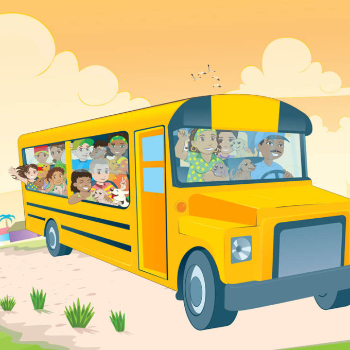 Kids-In-School-Bus